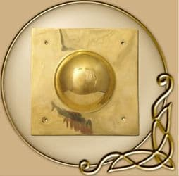 Square Shield Boss, Umbo from Brass