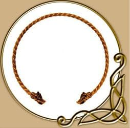 Twisted Torc - Viking Neck Ring made of bronze