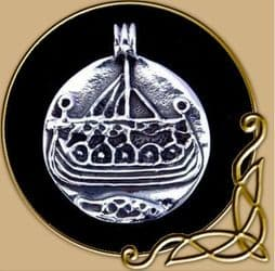 Viking ship 1 pendant made from silver